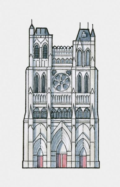 Illustration of Amiens Cathedral, France