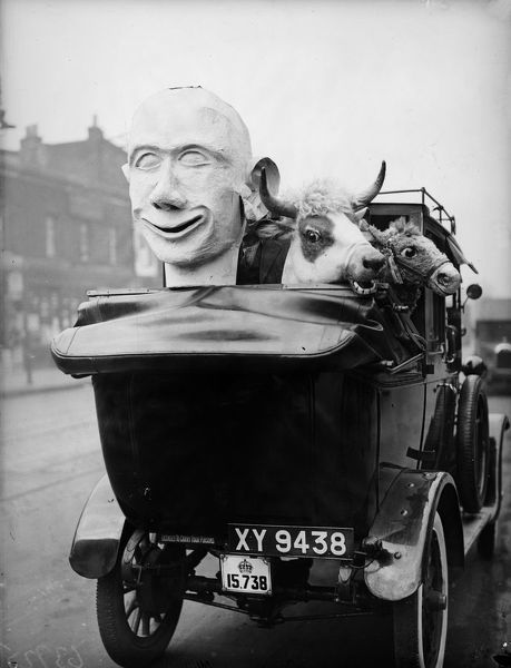 31st October 1932: Theatrical props made at the factory of B Mayers and Sons in Kennington, south London en route North for the pantomine season. (Photo by Fox Photos/Getty Images)