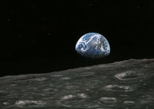 Earthrise photograph, artwork