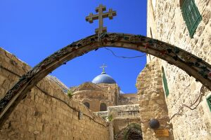 Ethiopian Monastery and Church of The Holy Sepulchre, Old City, UNESCO World Heritage Site
