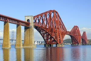 Forth Rail Bridge over the Firth of Forth, South Queensferry near Edinburgh, Lothian