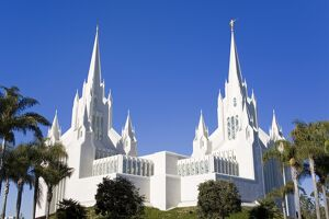 Mormon Temple in La Jolla, San Diego County, California, United States of America
