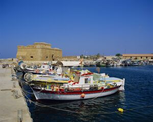 Paphos harbour, Cyprus, Europe