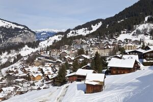 Wengen, 1274m, Jungfrau region, Bernese Oberland, Swiss Alps, Switzerland, Europe