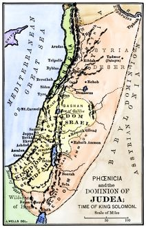Map of ancient Palestine kingdoms of Judah and Israel