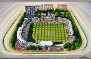 Lords Cricket Ground Art - Middlesex County Cricket Club & England #8649223