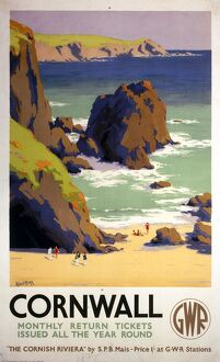 'Cornwall', GWR poster, 1938