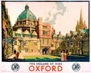 'Oxford', GWR poster, 1923-1947