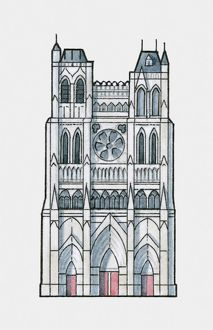 illustration amiens cathedral france