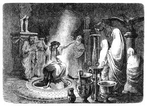 The Pythia foretells the Oracle of Delphi