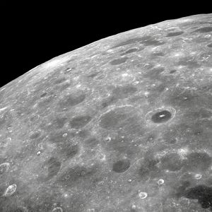 View of the lunar surface